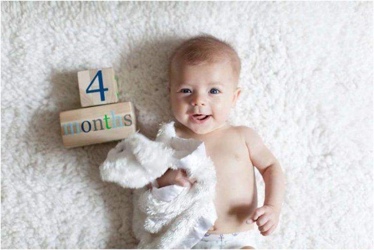 كيف ينمو الطفل في الشهر الرابع؟